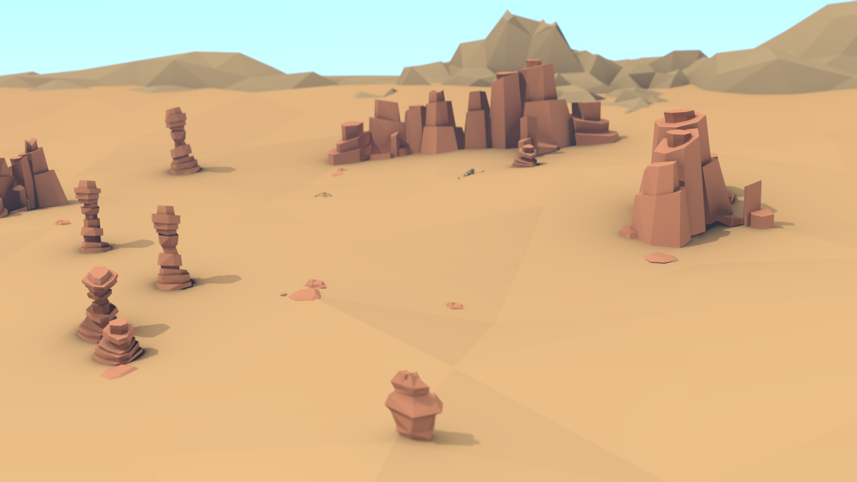 Desert Scene for The Hedge Knight / Blender
